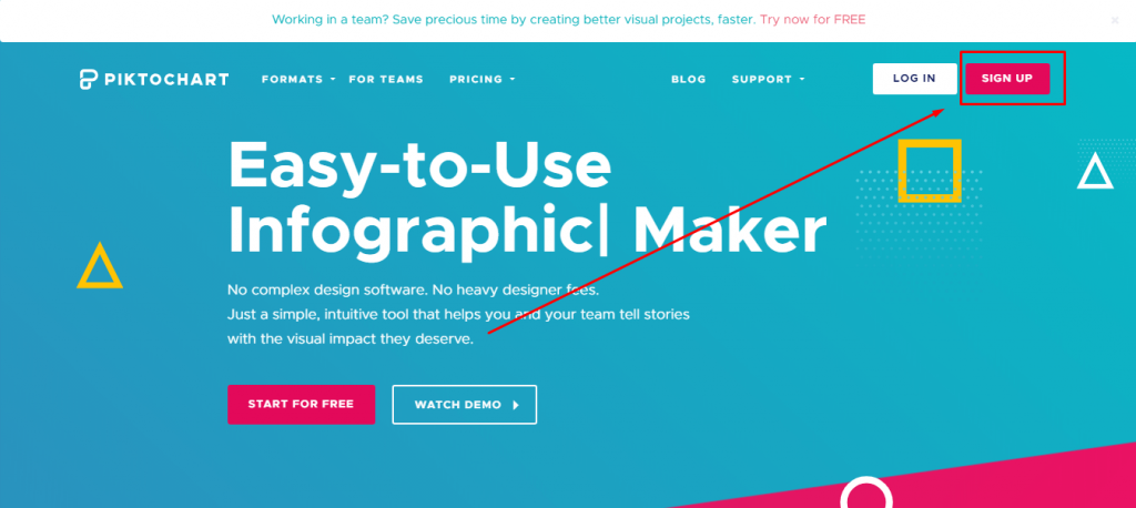 Piktochart Signup For Infographics